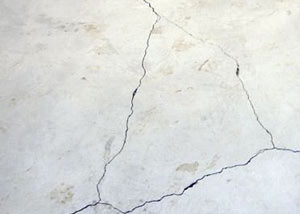 cracks in a slab floor consistent with slab heave in Glennallen.