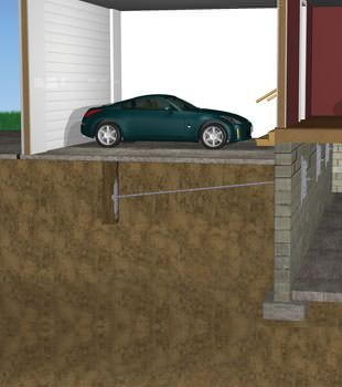 Graphic depiction of a street creep repair in a Gustavus home