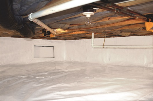 Crawl space sealed with CleanSpace