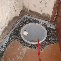 Installing a sump in a sump pump liner in a Juneau home